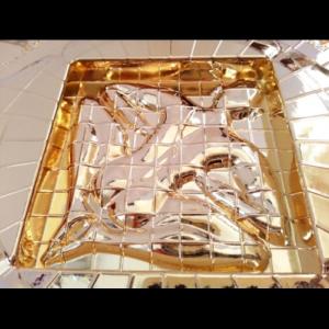Vastu Purush in Gold Vasati Pyramid