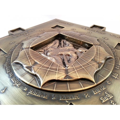 Vastu purush in centre of Vasati Pyramid Bronze