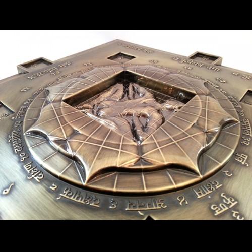 Vastu purush in centre of Vasati Pyramid Bronze